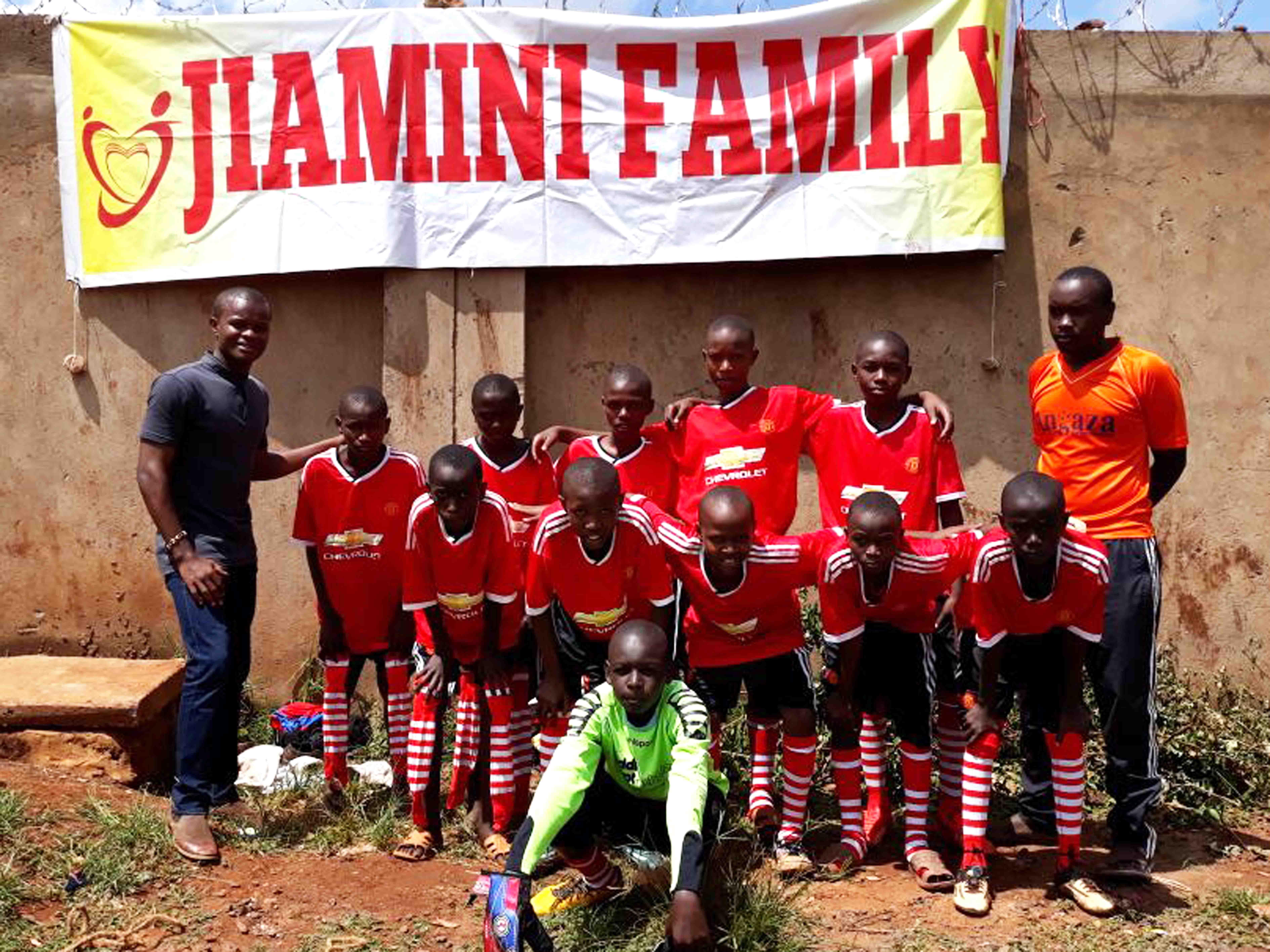 Das Jiamini Fußballteam