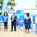 Handwasch Stationen sollen bei der Virusbekämpfung helfen