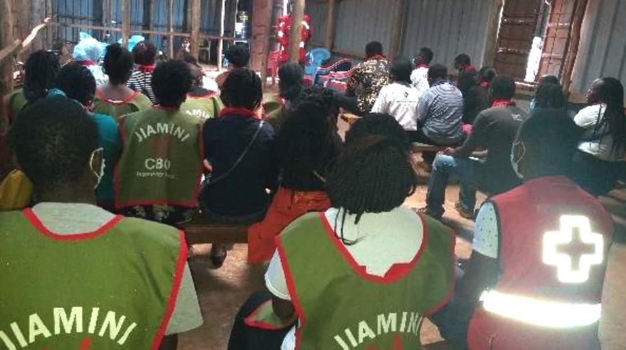 Lebensmittelspenden und Teambuilding mit dem Roten Kreuz Thika
